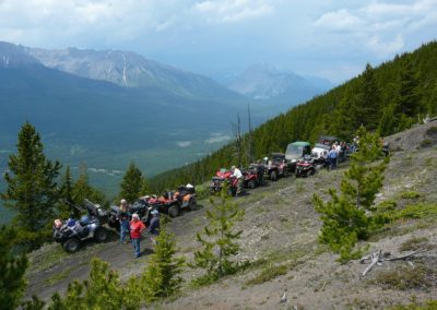 ATVs on mountain trail